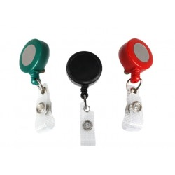 ID Badge Mini Reel with Strap Clip (Pack of 100)