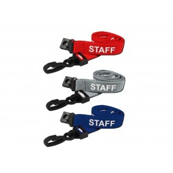 Pre-Printed Staff Lanyard with Plastic J Clip (Pack of 100)