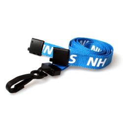 Pre-Printed NHS Staff Lanyard with Plastic J Clip (Pack of 100)