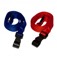 Antimicrobial 10mm Lanyard with Flat Plastic J Clip (Pack of 100)