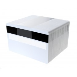 High Grade Blank White PVC Cards with Hi-Co Magstripe 2,750oe with Signature Panel, 760 Micron - Pack of 100
