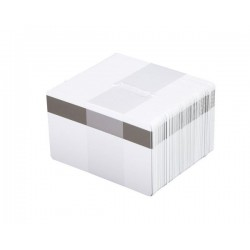 Fotodek White 760 Micron PVC Cards with 2750oe Hi-Co Magnetic Stripe - Pack of 100