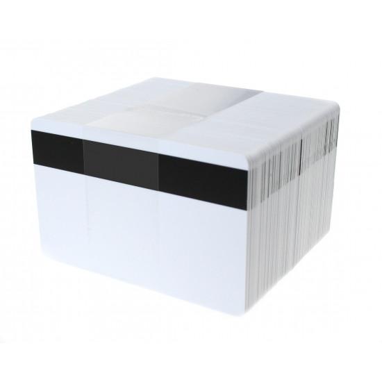 EM4102 White ISO-Sized PVC Card, Gloss Finish with HI-CO MAGSTRIPE 4,000oe