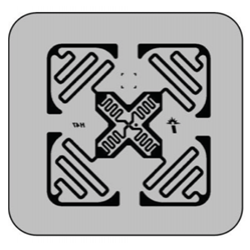 Impinj Monza 4E Non-Metal Adhesive Paper Label (H47), 50 x 50mm - 6.8m read range