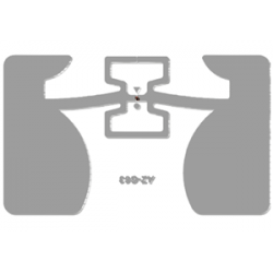Impinj Monza R6 Non-Metal Adhesive Paper Label (AZ-G63), 35 x 55mm - 7m read range