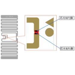 NXP Ucode 8 Non-Metal Self-Adhesive Label (AZ-M89), 20 x 45mm - 6.5m read range