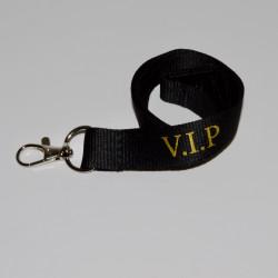 Metallic VIP Black Lanyard with Metal Clip (Pack of 100)