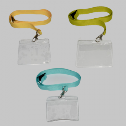 20mm Plain Lanyard with a Horizontal Flexible Wallet (Pack of 100)