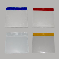 Flexible Wallet Visitor Pass Holders 100 x 80mm - Various Colours -  (Pack of 100)